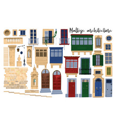 Collection traditional maltese vector