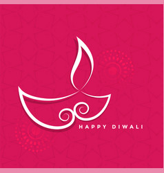 Creative design od diya for diwali festival vector