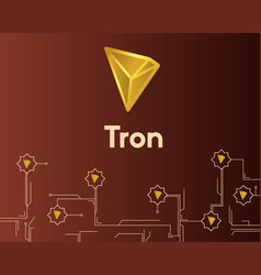Cryptocurrency tron blockchain circuit technology vector