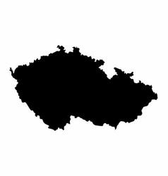 Czech republic silhouette map vector