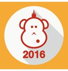 Design Flat Icon Symbol New Year vector image