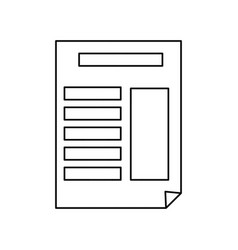 document with bent corner vector image