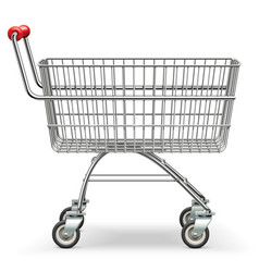 empty supermarket trolley vector image