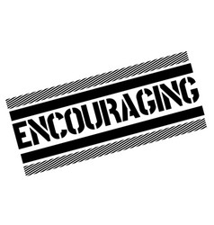 Encouraging stamp on white vector