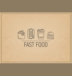Fast food restaurant placemat vector