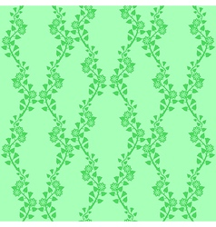 Flower ornament green vector