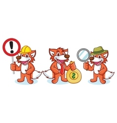 Fox Mascot with money vector image