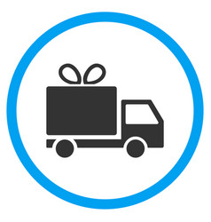Gift delivery rounded icon vector