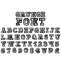grungeFont vector image