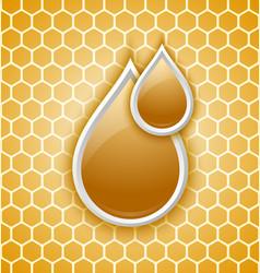 Honey drops icon vector image