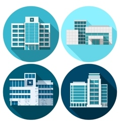 Hospital Buildings Flat vector image
