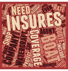 How to Shop For Boat Insurance text background vector image