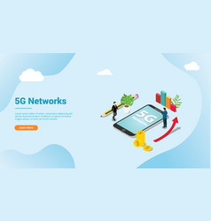 isometric 5g new internet speed super fast for vector image