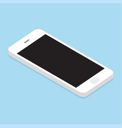 isometric modern touch smartphone vector image
