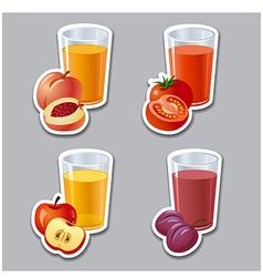 Juice stickers vector
