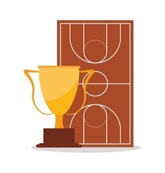 League and trophy of basketball sport design vector