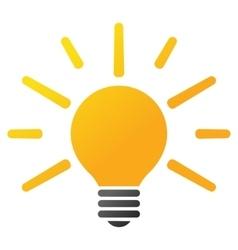 Light Bulb Gradient Icon vector