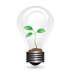 Light bulb plant vector