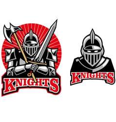 medieval knight mascot vector image