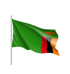 National flag republic of zambia vector