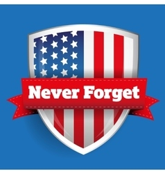 Never Forget - 11 september vector image