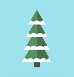 new year tree icon decorated by snow symbol vector image