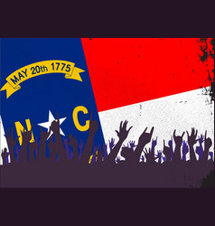 north carolina state flag with audience vector image