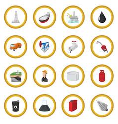 oil industry cartoon icon circle vector image