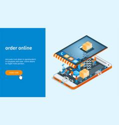 order online banner 01 vector image