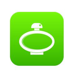 Parfume bottle icon digital green vector