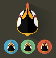 penguin portrait with flat design vector image