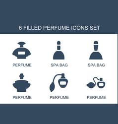 perfume icons vector image