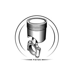 piston on white background vector image
