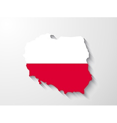 poland map with shadow effect presentation vector image