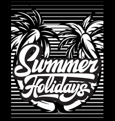 poster template for summer party with vector image