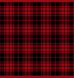 Red and black lumberjack tartan plaid seamless pat vector