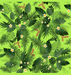 seamless pattern greeners vector image