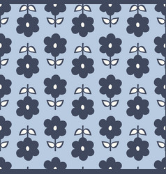 Seamless repeat pattern stylized navy blue vector
