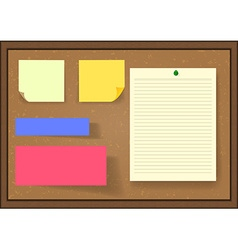 Set of post it notes on board vector