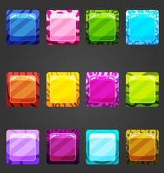 Shiny square buttons vector