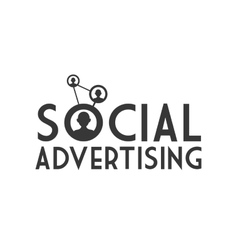 Social advertising icon Communication design vector image