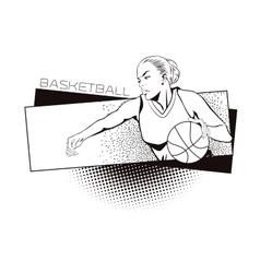 Summer kinds of sports Basketball vector image
