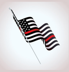 symbolic firefighter support american flag vector image