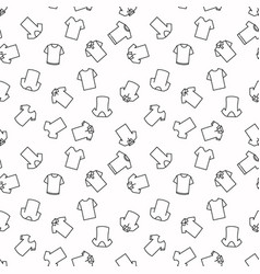 T-shirt seamless pattern in outline style vector