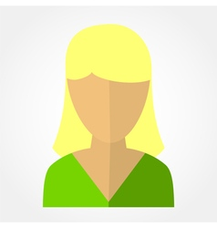 Template avatars blonde girl vector