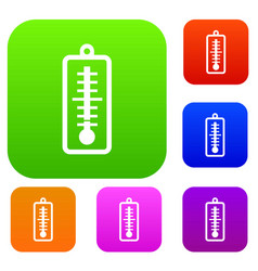 thermometer indicates low temperature set vector image