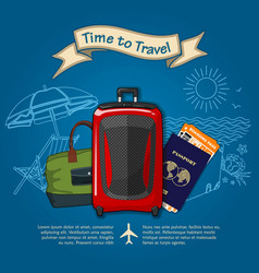 time to travel concept for travel and vacations vector image