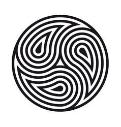 Triskelion symbol tattoo geometric circular vector