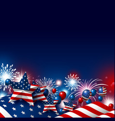 Usa 4th of july happy independence day design vector