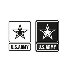 Usarmy and five-pointed star vector